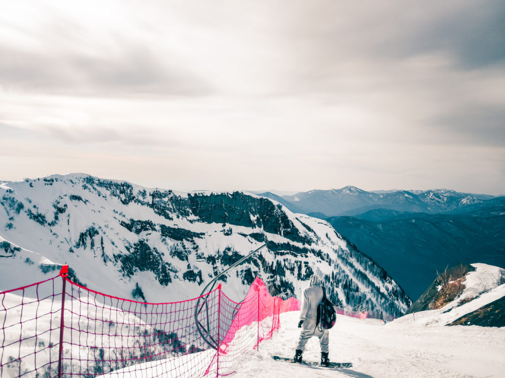 Ski at Roza Khutor, Sochi, Russia.