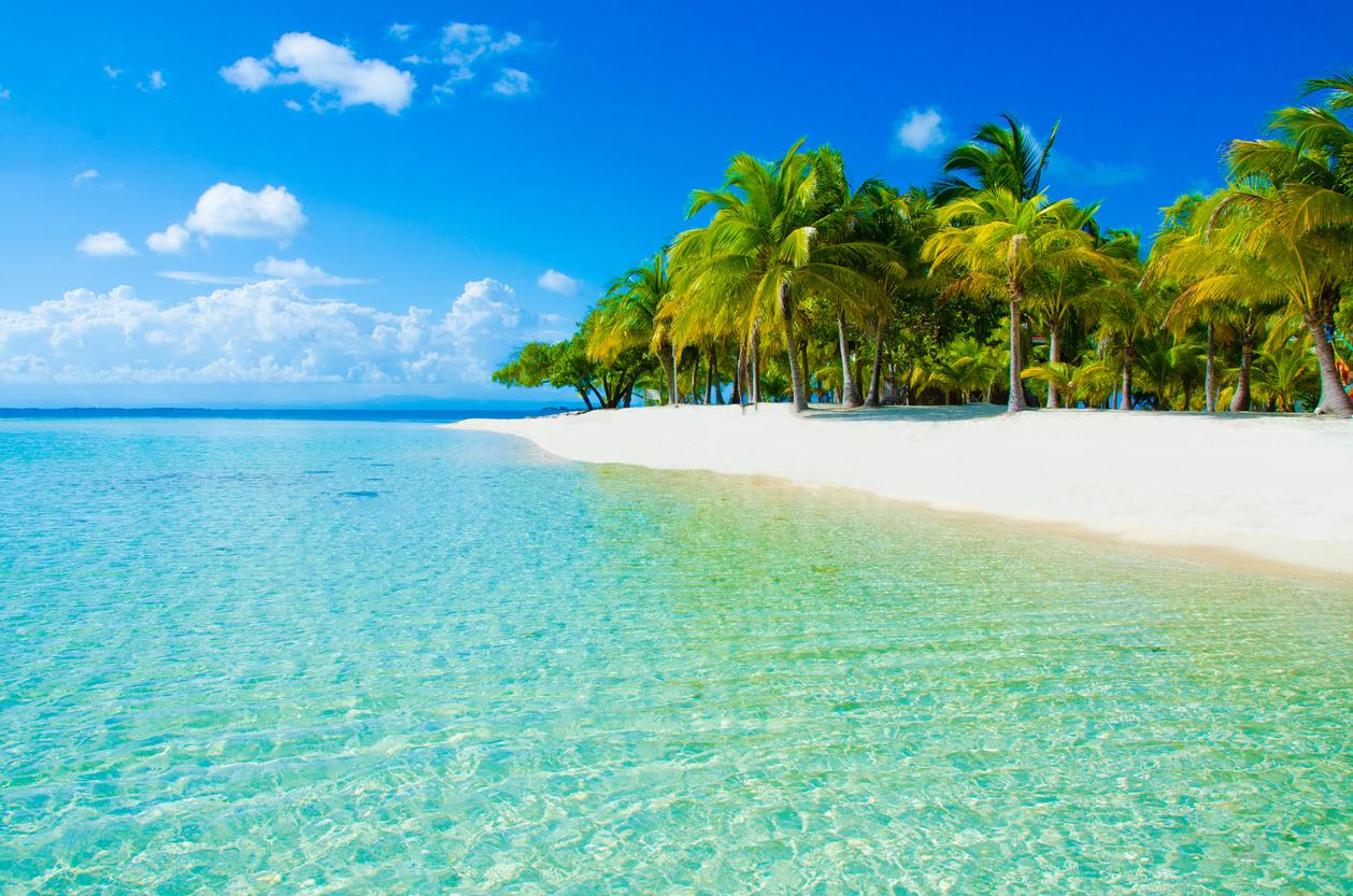 White beach in Belize