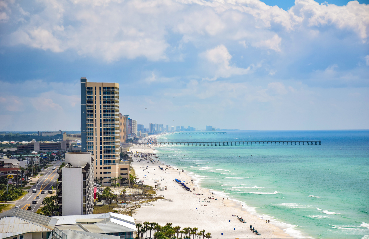 Beach View of Panama City Beach, Florida