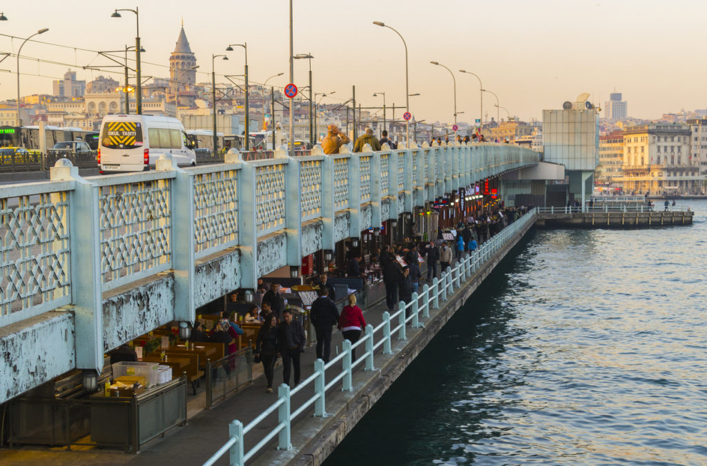 Gatala Bridge in Istanbul, Turkey