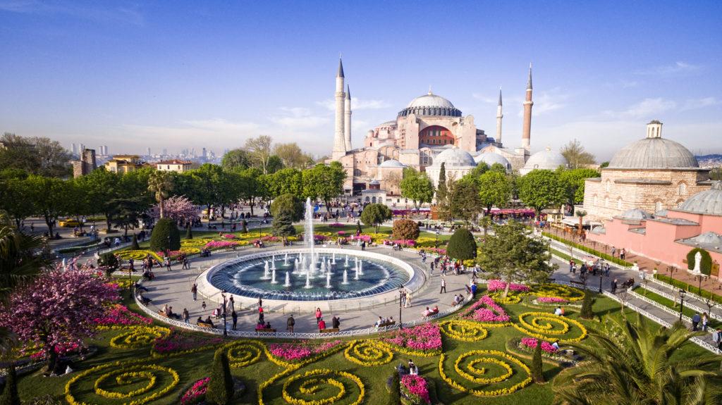 View of Hagia Sophia in Istanbul, Turkey