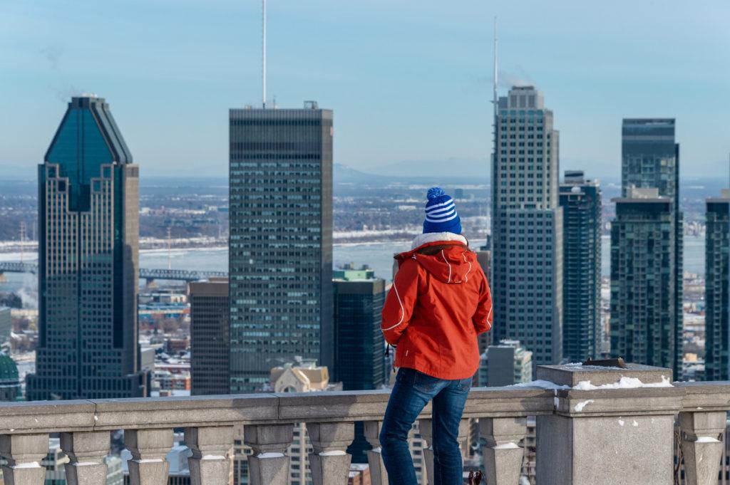 Montreal Skyline from Kondiaronk belvedere.