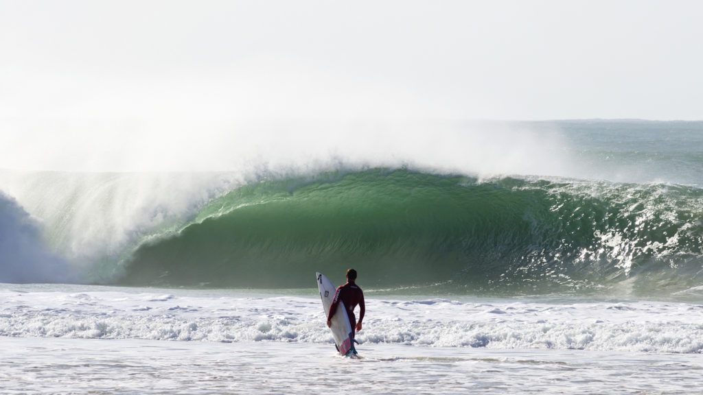 Supertubos in Portugal, the perfect place to get a tube ride.