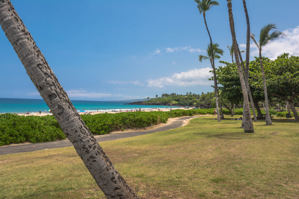 A view of Hapuna Beach State Park in Big Island, Hawaii