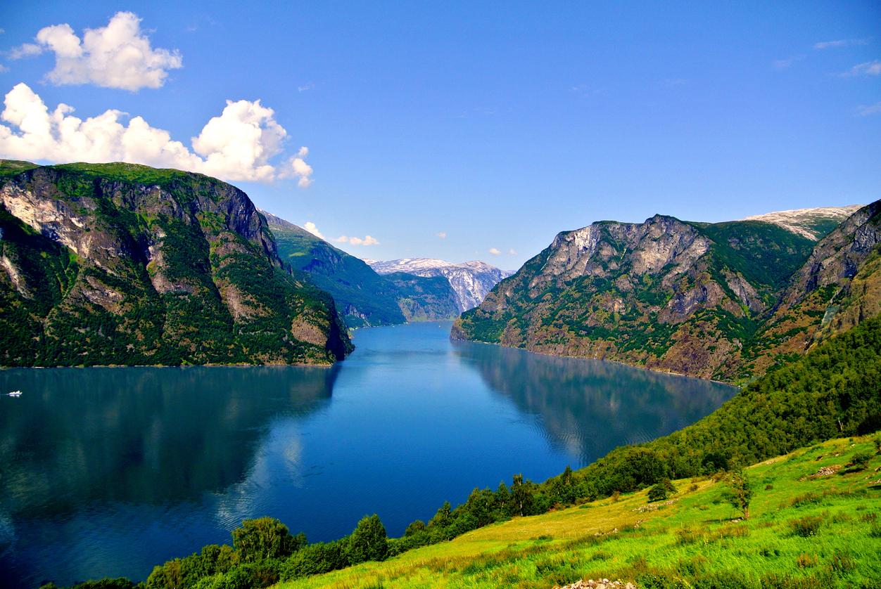 Adorable Aurlandsfjord in Norway