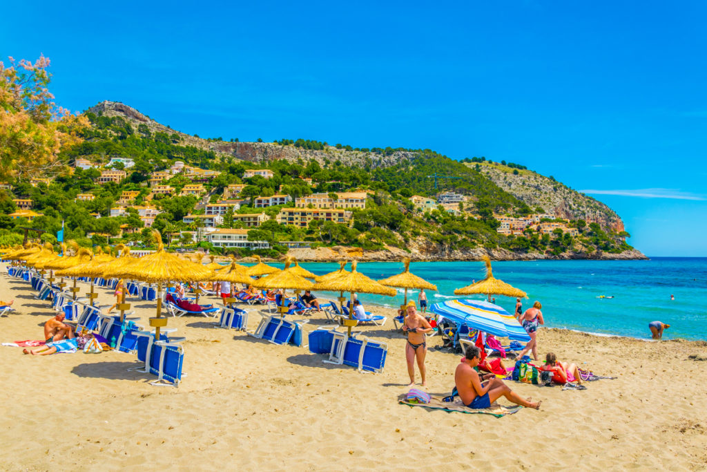 Canyamel beach on Majorca, Spain