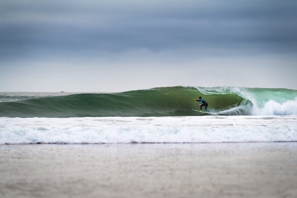 Surfing at Carcavelos Beach
