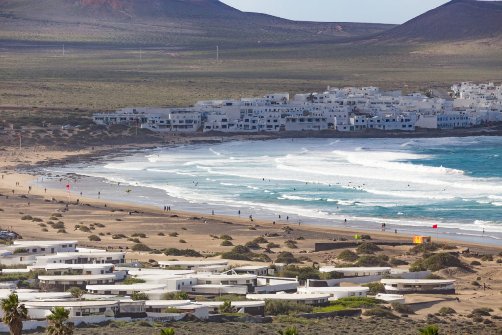 Famara, in Lanzarote, Canary Islands