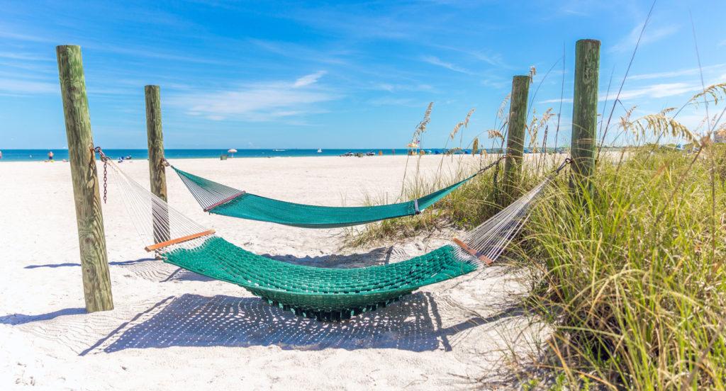 Hammock on St. Pete beach, Florida, USA