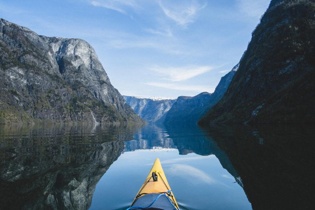 Kayak trip in Nærøyfjorden
