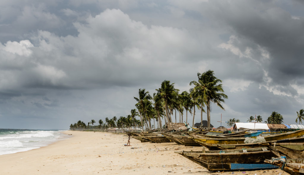 Lekki Beach in Lagos, Nigeria