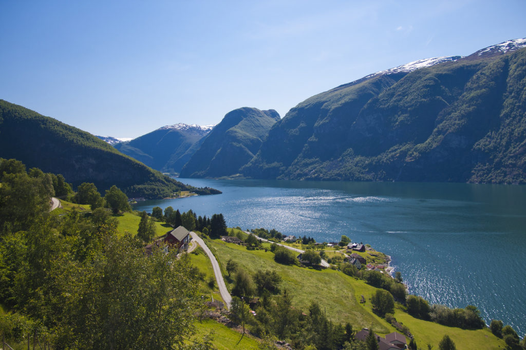 View at Aurland, Norway