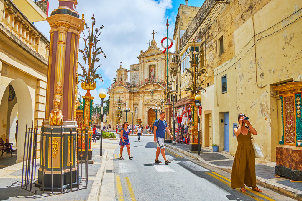 In St Agatha street, Rabat, Malta