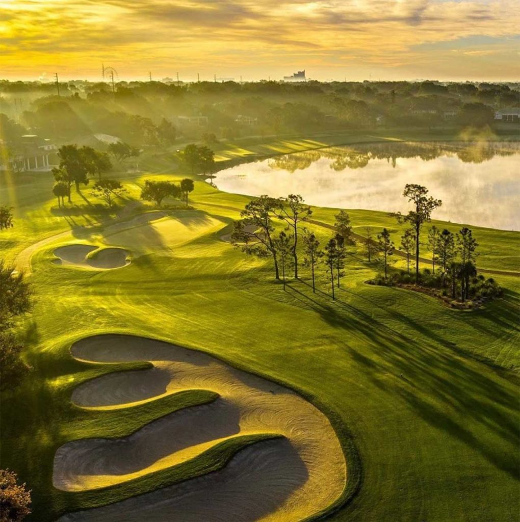 Arnold Palmers Bay Hill Club Golf Course at sunrise