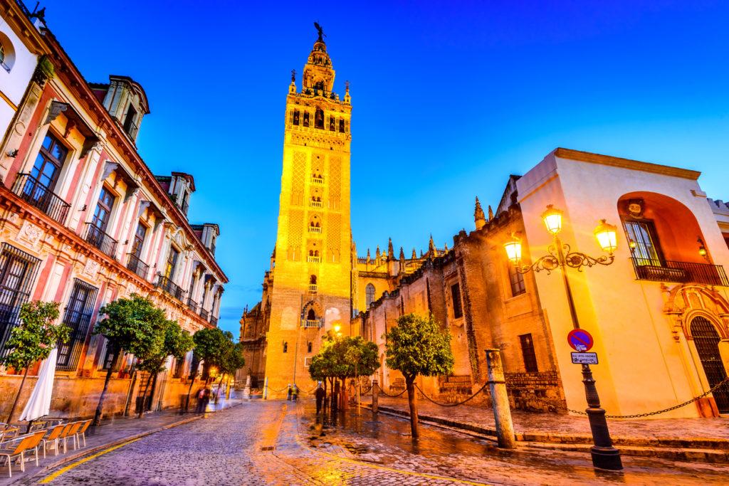 Giralda tower in Sevilla, Andalusia, Spain