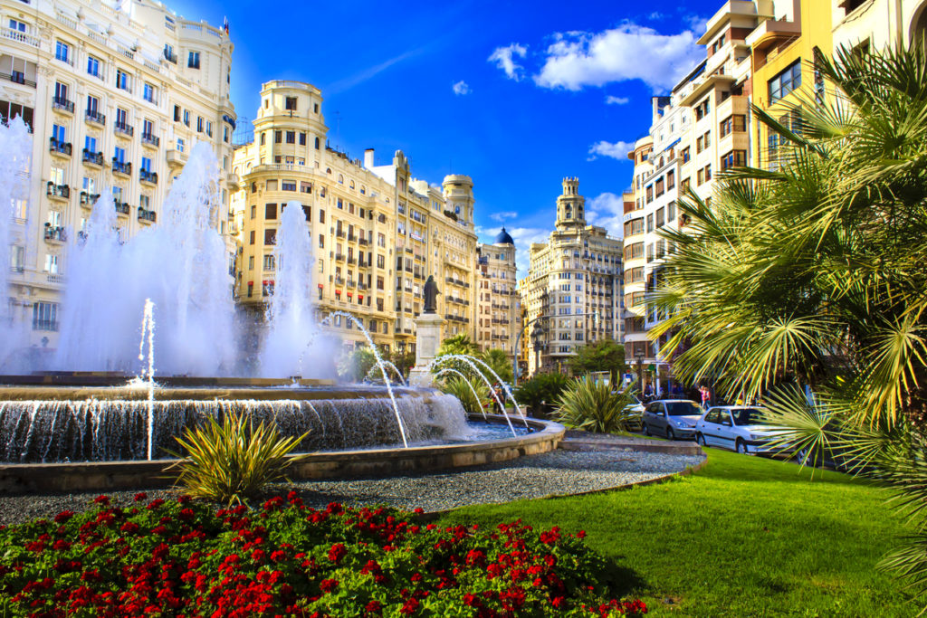 Main city square of Valencia, The Plaza del Ayuntamiento