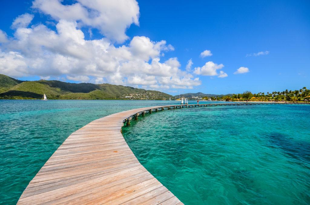 Martinique pontoon on Marin bay