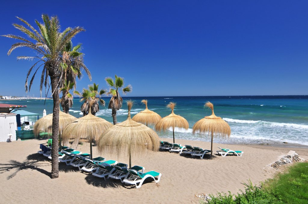 One of the beaches in Marbella