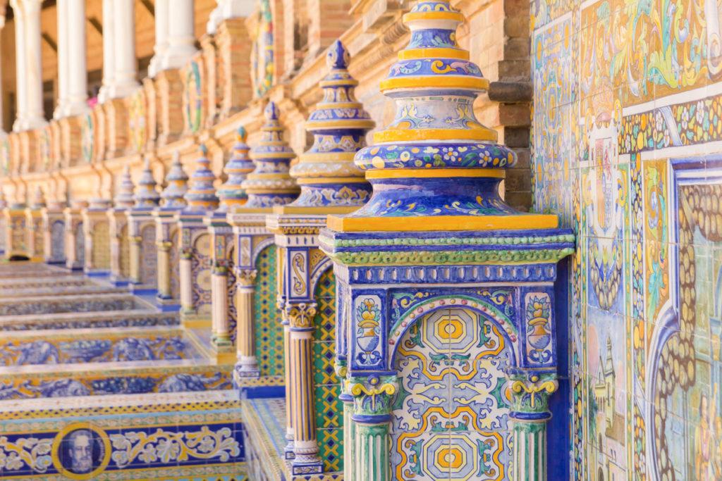 plaza espana seville ceramic decoration