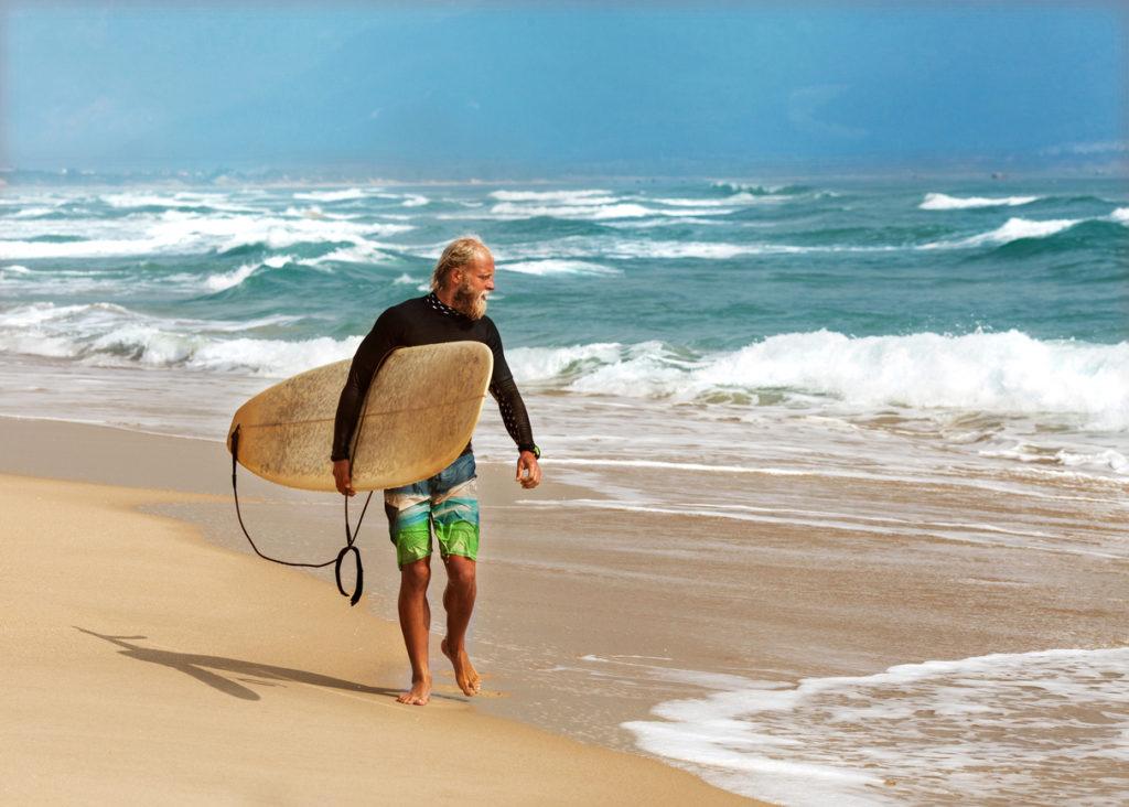 Returning from a Surf in Fuerteventura