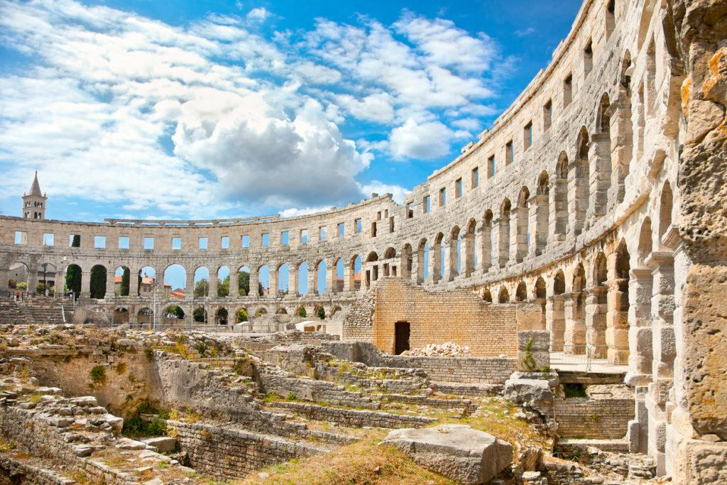 Roman amphitheatre in Pula, Croatia.