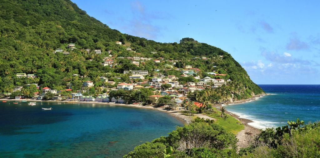 Scotts Head village in Dominica
