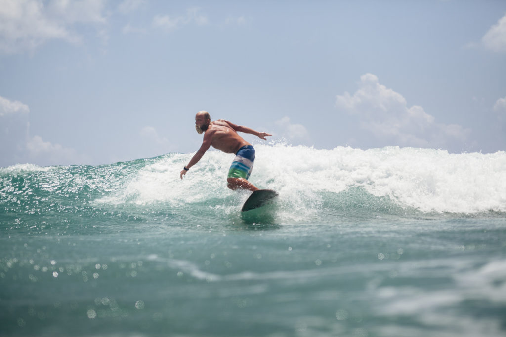 Surfing in Board Shorts in Fuerteventura