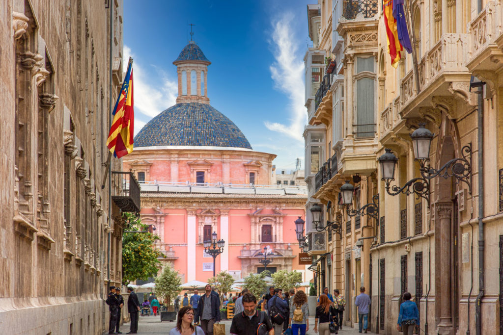 Valencia streets in historic city center