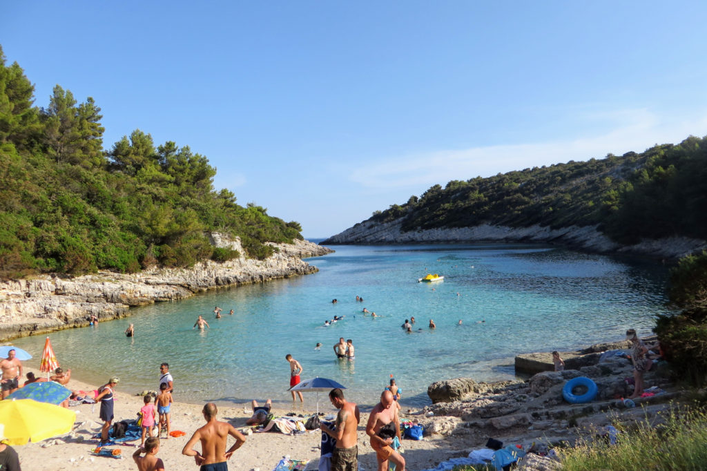 Zitna Beach, on Korcula island, Croatia.