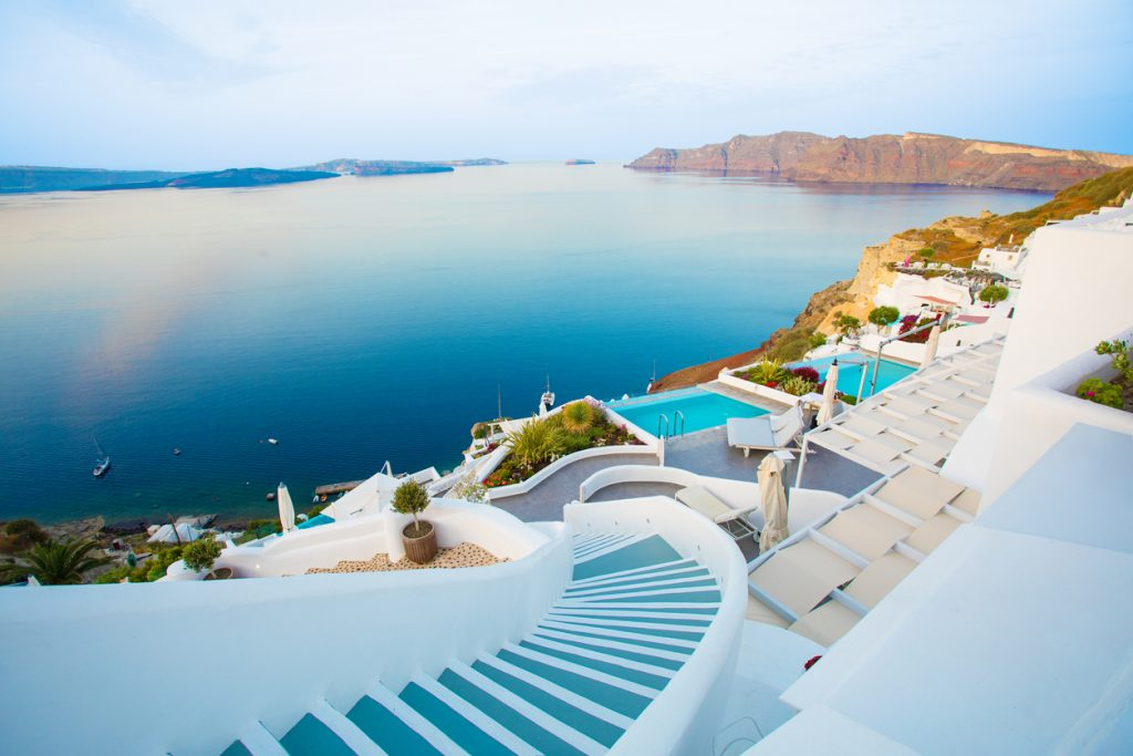 Beautiful Santorini by sunrise