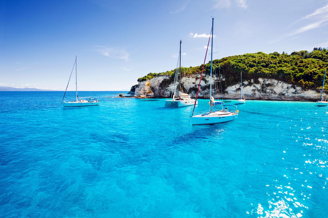 Beautiful bay in Greece