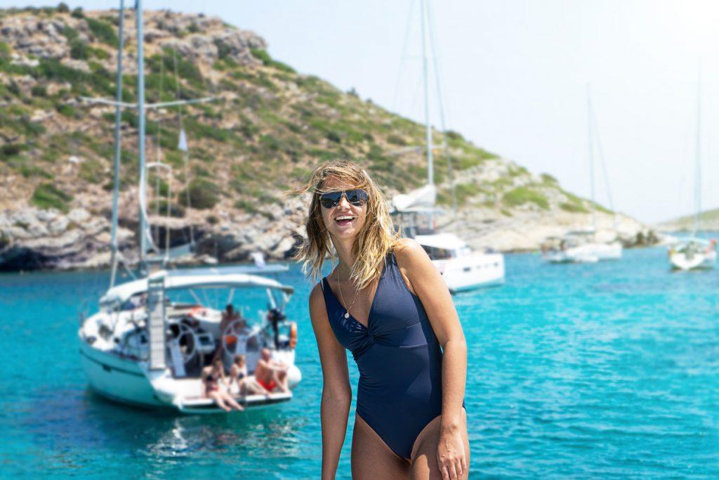 Boat fun in Mykonos