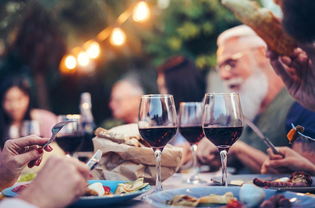 Enjoying Spanish local wine