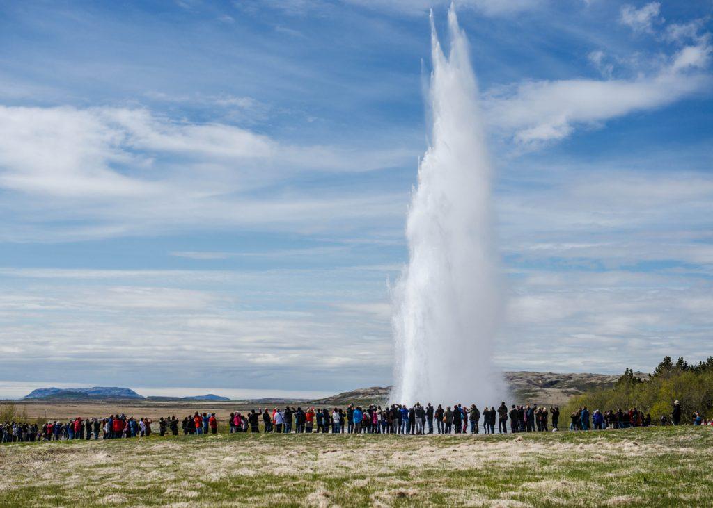 Geyser in southwestern Iceland