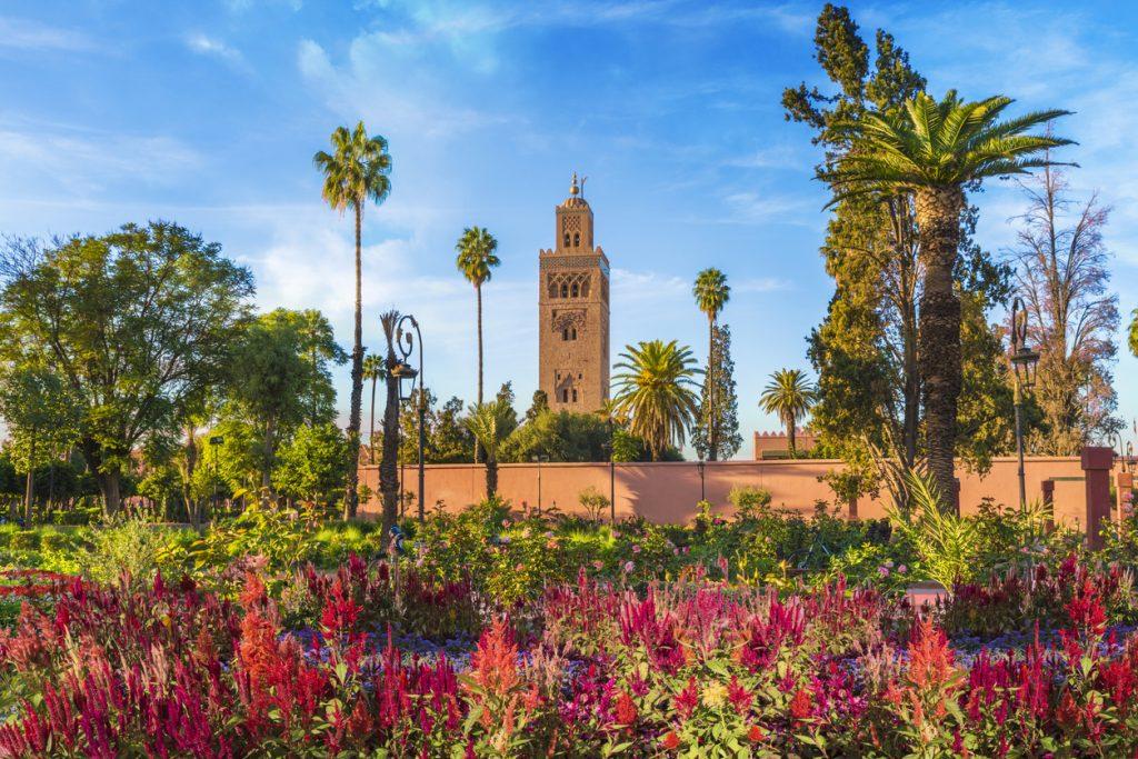 Koutoubia Mosque and garden, Marrakesh