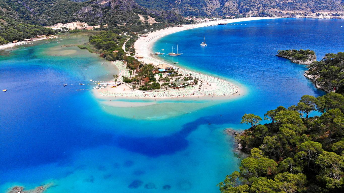 Oludeniz, Turkey. Blue Lagoon beach