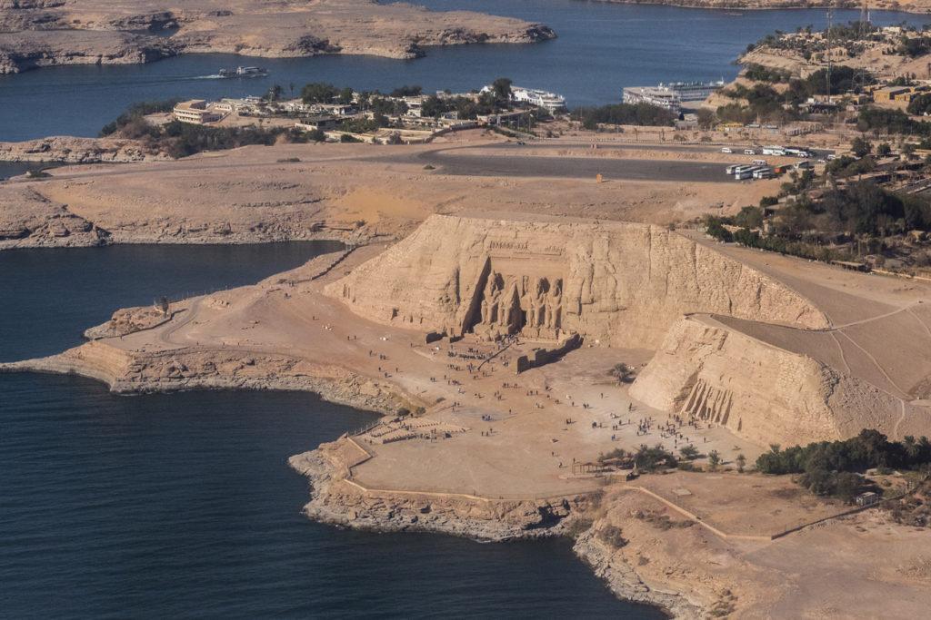 Aerial view of Abu Simbel, Nubia, Egypt