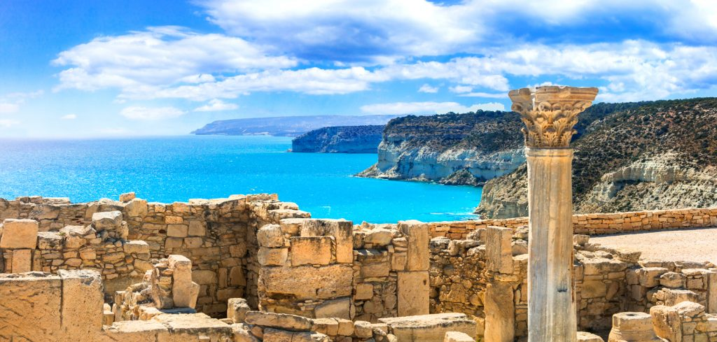 Ancient temples and turquoise sea of Cyprus