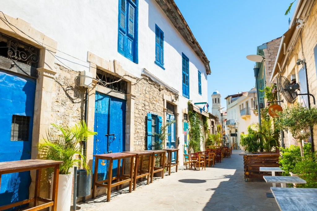 Beautiful old street in Limassol, Cyprus