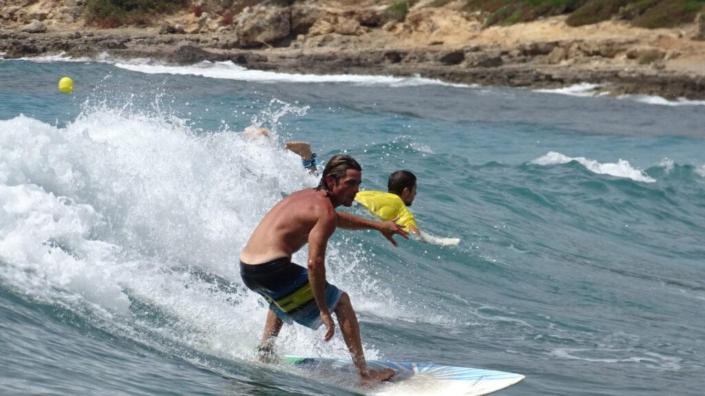 Riding in Board shorts in Majorca