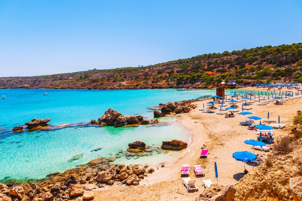 Nissi beach and Cavo Greco in Ayia Napa, Cyprus