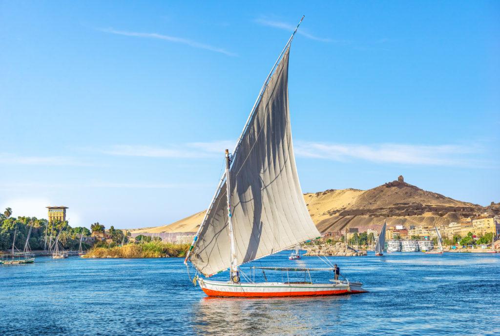 Sailing boat in Aswan