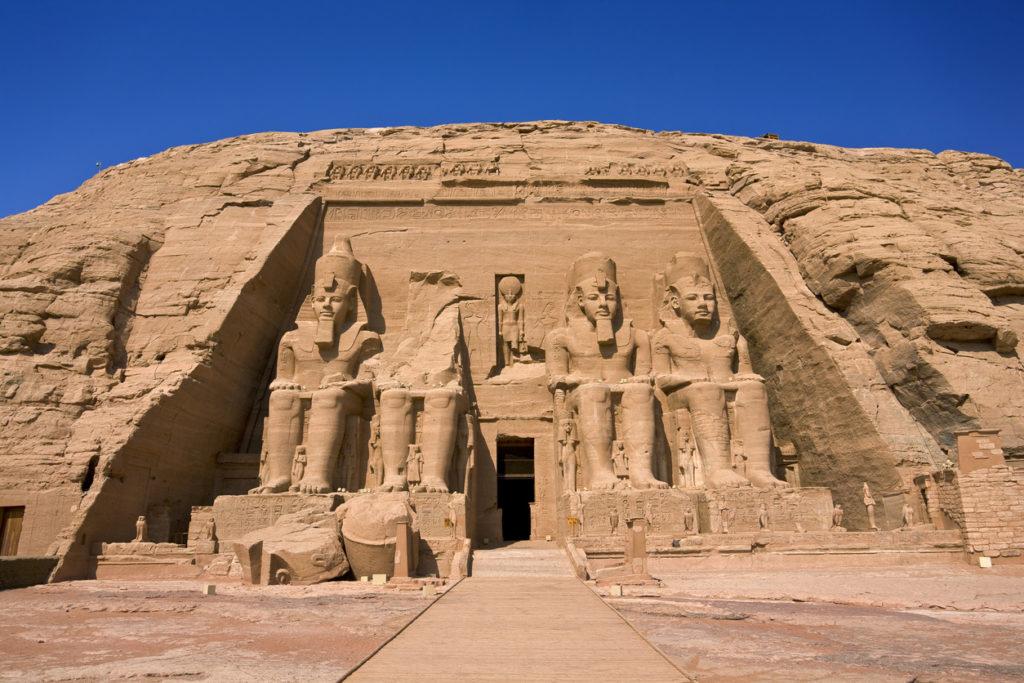 he Temple of Rameses II at Abu Simbel