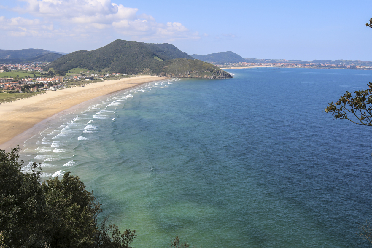 "Views of the beach of Berria from ""Monte Buciero""."