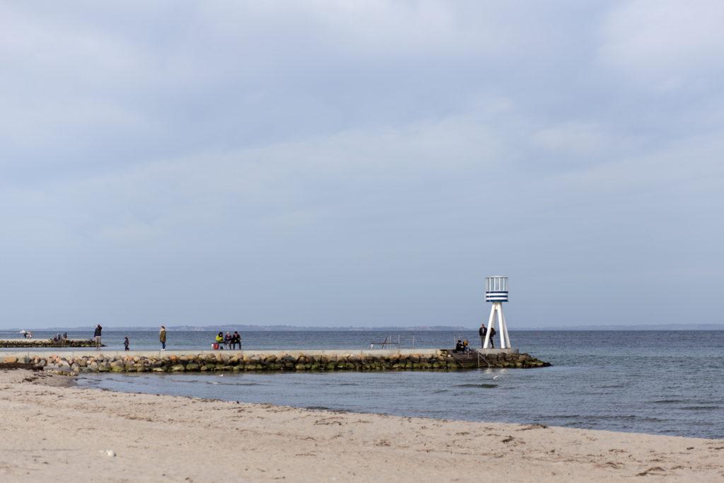 Bellevue Beach in Copenhagen, Denmark