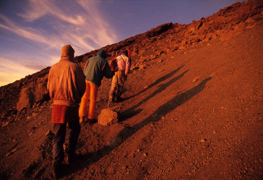 Climbing Mt. Kilimanjaro, almost reaching Gillman's Point, Tanzania