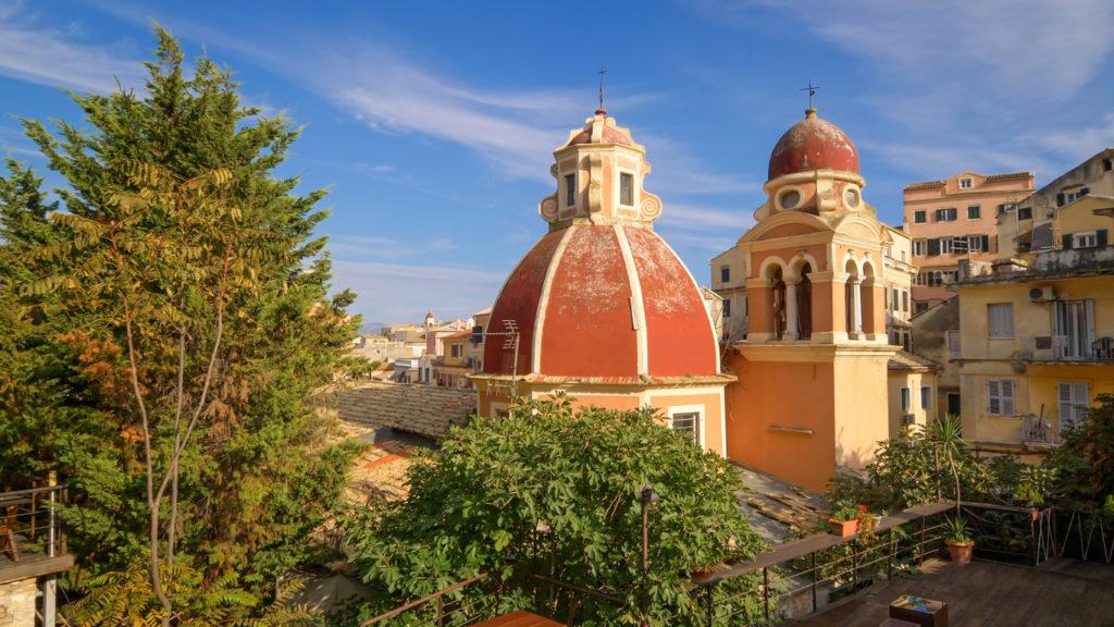 Dome of Tenedos Catholic Church on Corfu