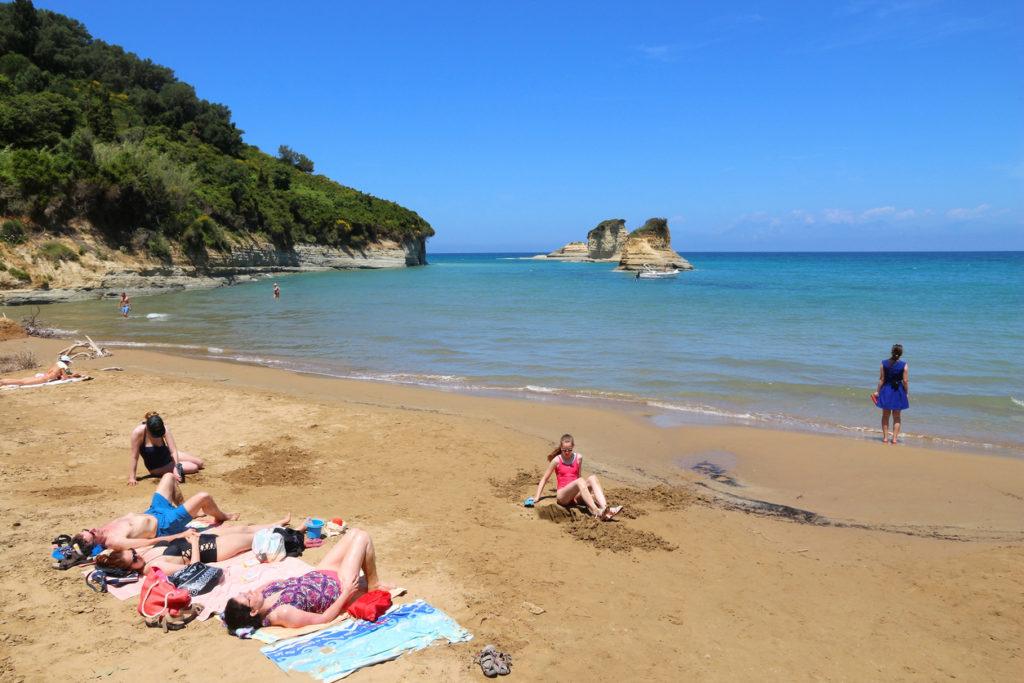 enjoy the beach in Sidari, Corfu