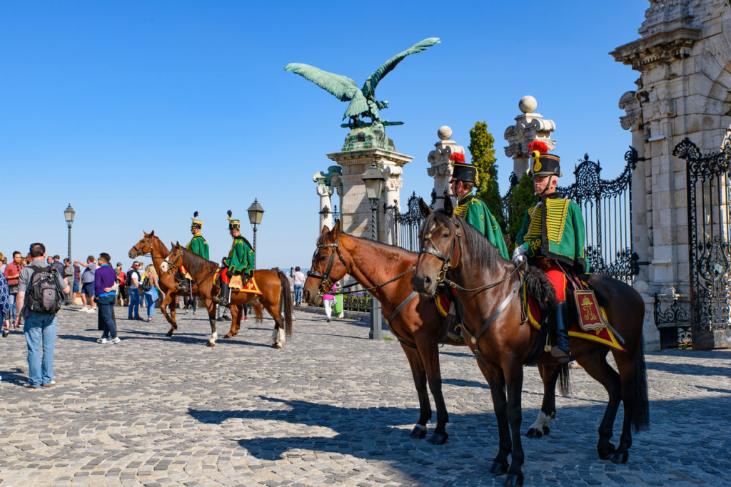 Hungarian Royal Horse Guards at Budapest Castle