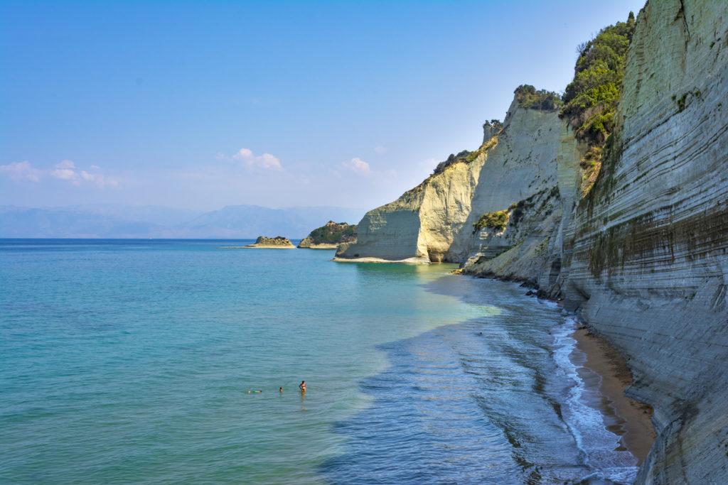 Loggas beach, Peroulades, Corfu